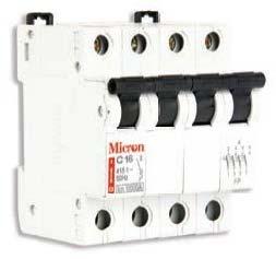 Miniature Circuit Breaker (MCB's)