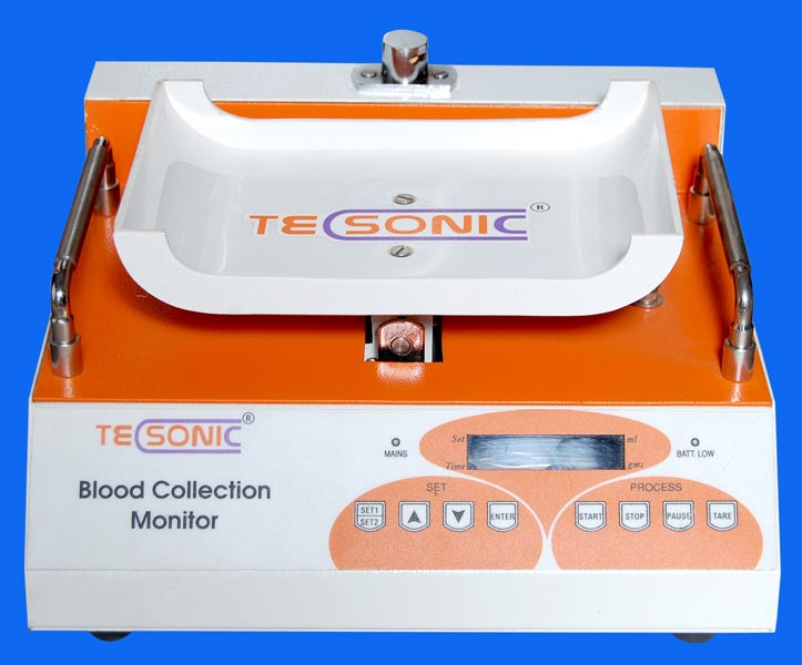 blood collection monitor Start performing a therapeutic phlebotomy with the genesisbps line of products increase patient safety while performing therapeutic blood draws when using the genesisbps digital blood collection monitor, model cm350, to increase accuracy and monitor blood flow.