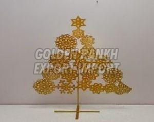 Handmade Golden Christmas Tree