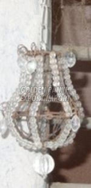 Handmade Mini Glass Beads Chandelier Ornament