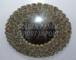 Handmade Rose Wreath Mirror