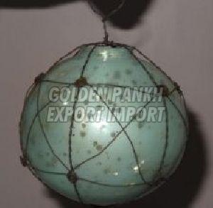 Handmade Wirework Mercury Glass Ornament