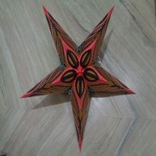 zari printed paper star lantern
