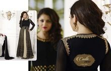 Black Georgette Party Wear Designer Dress
