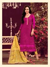 Chanderi Unstitched Slawar Kameez