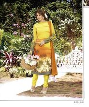 Yellow Georgette Salwar Kameez