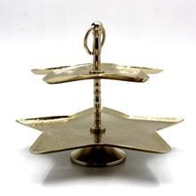 Brass 2 Tier Cake Stand