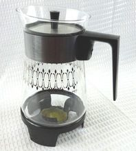 Silver Coffee Warmer With Bakelite Handle