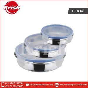 Stainless Steel Flat Lid Bowl