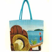 Large heavy Jute beach bag