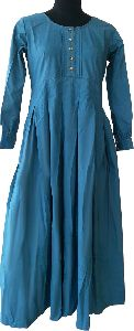 Torquise Abaya Front Buttons