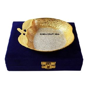 Apple Silver Gold Plated Bowl
