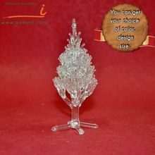 Clear Glass Christmas Tree Ornament