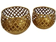 Brass Perforated Planter