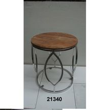 Center Steel Table With Marble