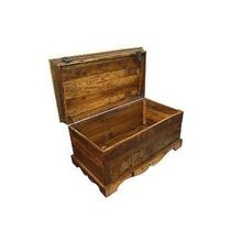 Wooden Bed Side Trunk