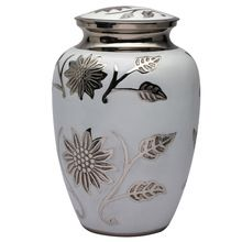 Aria Flower Metal Brass Cremation Urn