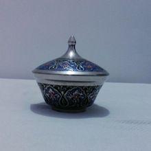 Metal Enamel Colored Sugar Pot