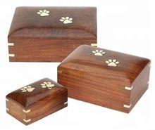 Wooden Paw Pet Cremation Urn