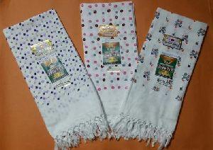 White Printed Soft Cotton Towel