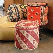 Floor Cotton Cushion Ottoman