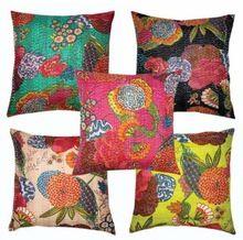 Handmade Cotton Kantha Cushion Cover