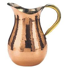 Hammered Finish Pure Copper Pitcher Water Jug