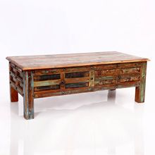 Reclaimed Wood Antique Drawer Coffee Table