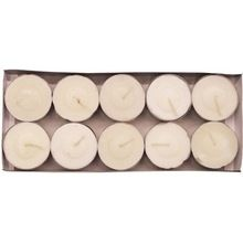 White Unscented Wax Tea Light Candles