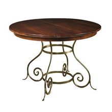 Wrought Iron Extension Dining Table