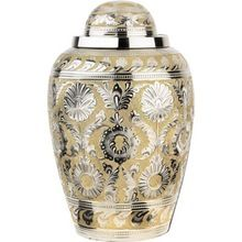 Domtop With Engraving Brass Cremation Urn