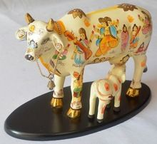 Handicraft Standing Resin Kamdhenu Cow