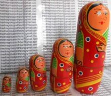 Wooden Painted Doll