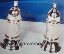 Silver Plated Brass Metal Salt And Pepper Shaker Sets