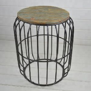 metal Black wire side table