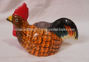 Paper Mache Mashi Candle Hen Animal Bird Design
