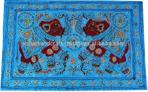 Wall Hanging Handmade Rajasthan Wall Tapestry Table Cover