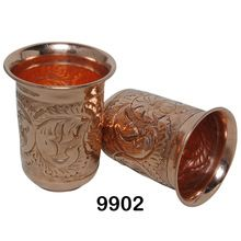 Copper Embossed Water Glass