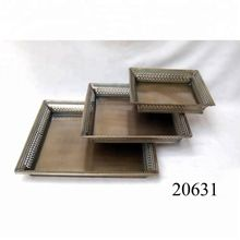 French Vintage Decorative Wrought Iron Service Tray