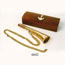 Nautical Brass Whistle Key Chain