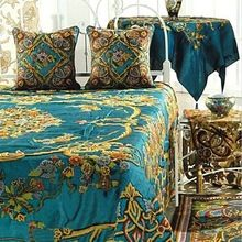 Hand Embroidery Silk Bed Sheet