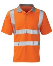 Safety Reflective Polo T Shirt