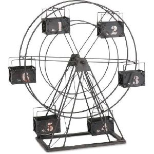 Black Metal Ferris Wheel Tealight Candle Holder