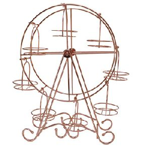 Copper Plating Metal Ferris Wheel Cake Stand