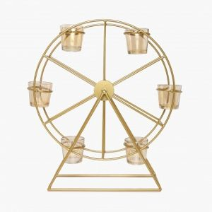 Iron Ferris Wheel Tealight Candle Holder