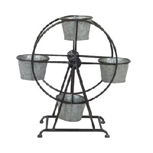 Metal Ferris Wheel Iron Pot Planter
