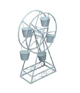 Metal Ferris Wheel Planters