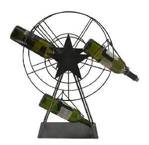 Metal Ferris Wheel Wine Bottle Holder