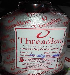 Cream Bag Closing Thread