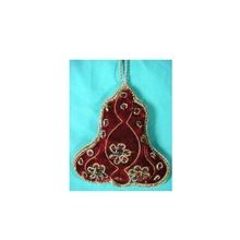 Bell Shape Christmas Ornament Hand Embroidery